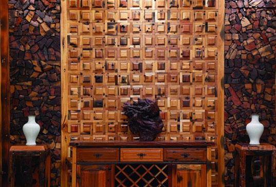 Деревянная мозаика – эксклюзивный интерьер
