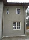 Окна деревянные с фальш переплетом - евробрус сосна 78мм